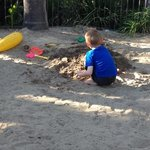  Sandpit area for kids, behind island bar in tropical pool area. Awesome!